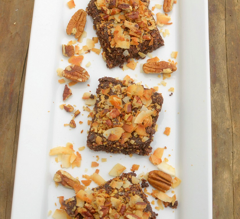 Have your cake and eat it too, for breakfast! These Vegan and Paleo German Chocolate Cake Breakfast Bars are super simple to make!
