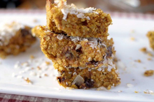 Coconut Pumpkin Breakfast Bars