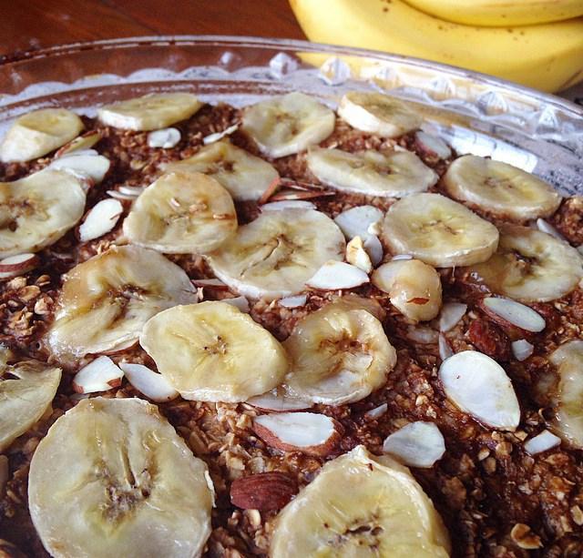 banana latte baked oatmeal