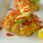 http://athleticavocado.com/2016/06/04/spicy-mango-avocado-crab-cakes-paleo-whole-30-friendly/