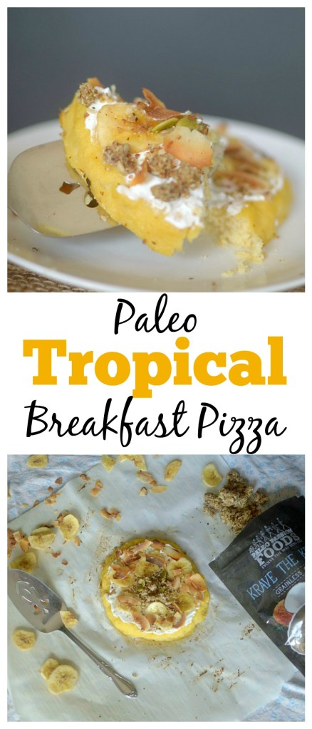 Take yourself to a tropical island with this Paleo Tropical Breakfast Pizza! You only need 8 ingredients to make this sweet and filling single serving breakfast!