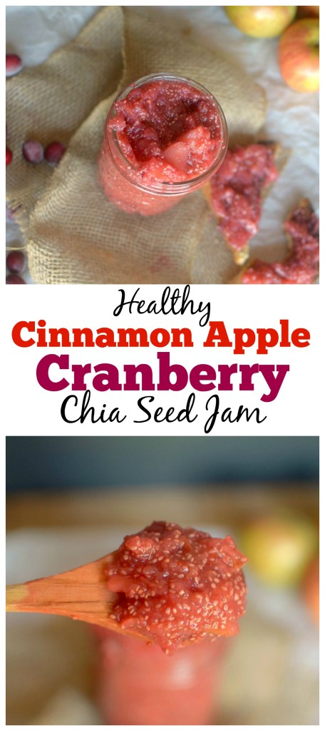 Love all things chia jam? Try this easy and delicious winter version! This Cinnamon Apple Cranberry Chia Jam is both vegan and paleo friendly!
