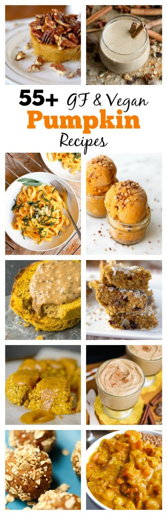 55+ Gluten-Free Vegan Pumpkin Recipes Roundup that are all easy and range from savory to sweet and are ALL DELICIOUS!