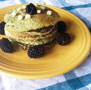 Gluten-free Zucchini Cornbread Pancakes