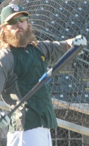 Josh Reddick giving his follicles a workout