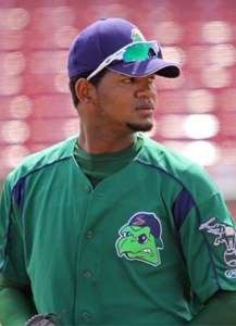 Stockton Ports Pitcher Raul Alcantara (6 2/3 IP / 2 H / 0 ER / 2 BB / 9 K)