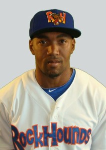 Midland RockHounds Designated Hitter D'Arby Myers (4 for 4 / Home Run / Triple / 2 RBIs)