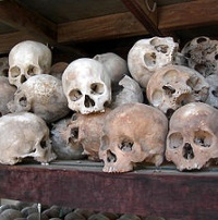 Skulls of Cambodian Communist Victims