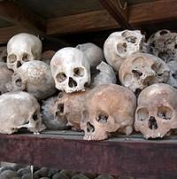 Skulls of Cambodian Communist Victims