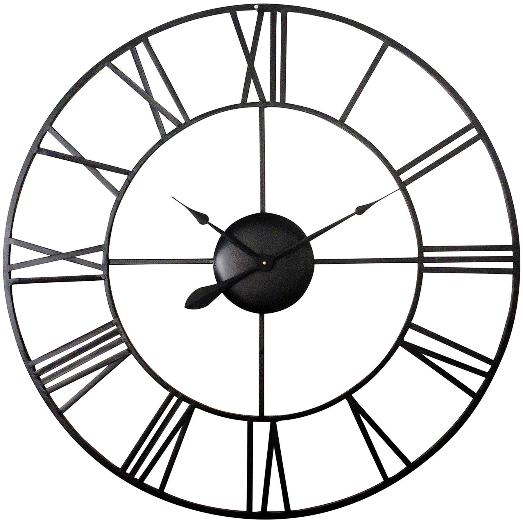 Black Wall Clock 36in Wall Clock