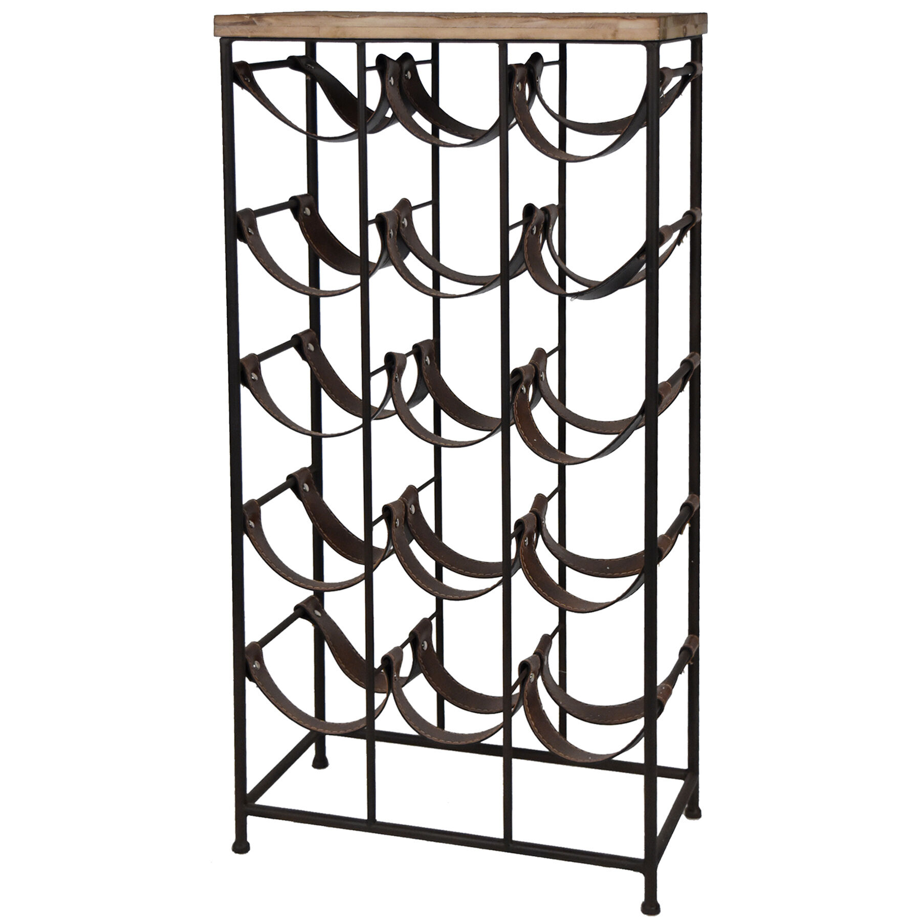 Metal Wine Racks 15 Slot Metal Wood Wine Rack