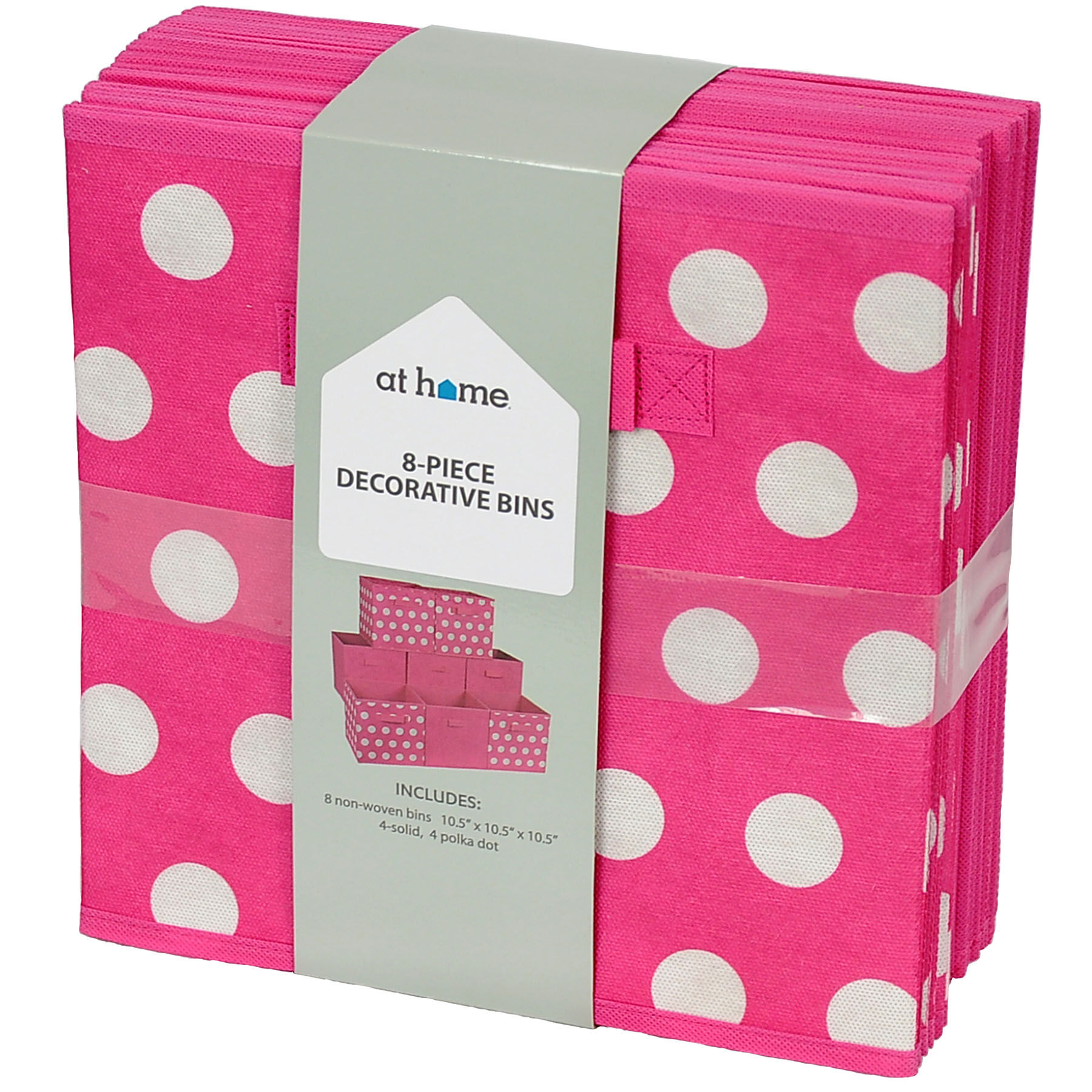 Pink Bins Set Of 8 Storage Bins Pink