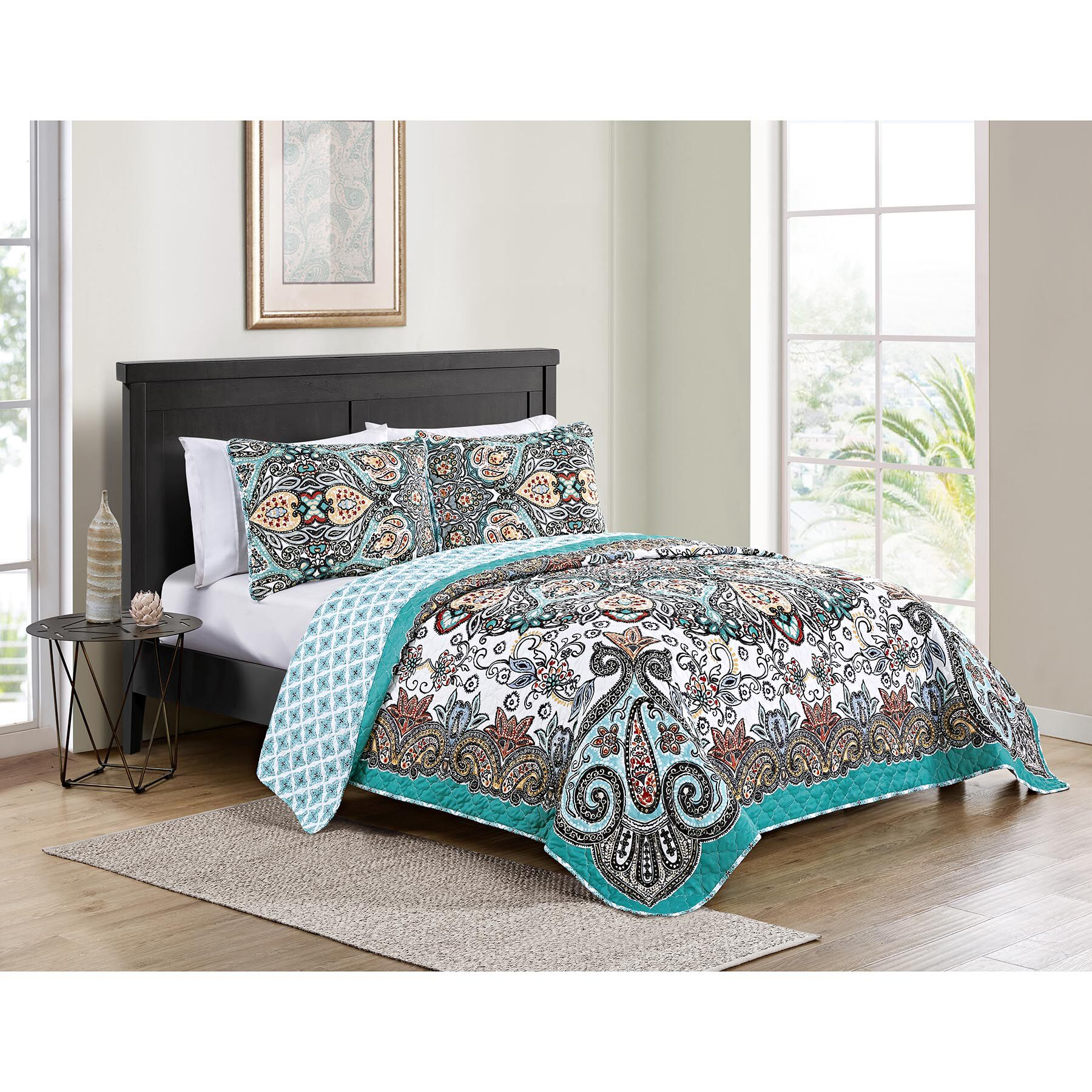 Quilt Cover King Daya 3 Pc Quilt Set Multi King