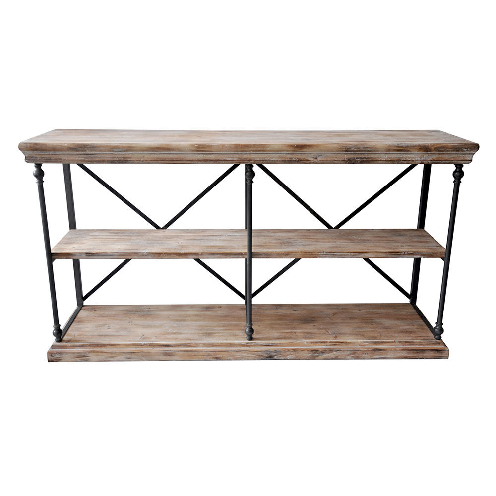 Console De Table La Salle Metal And Wood 2 Shelf Console Table