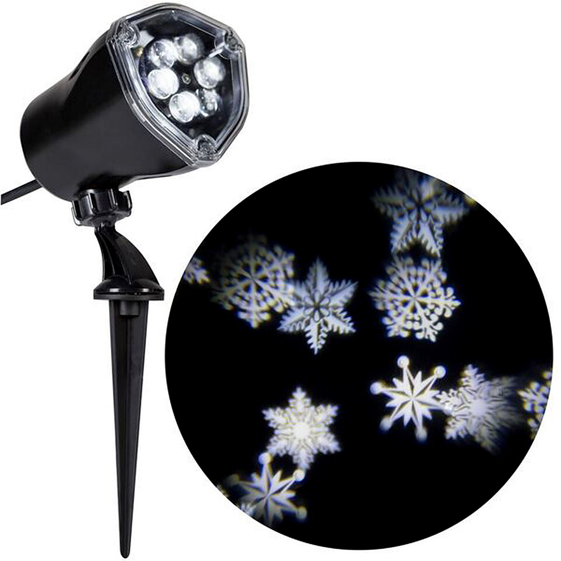 Light Projector White Snowflurry Led Light Projector