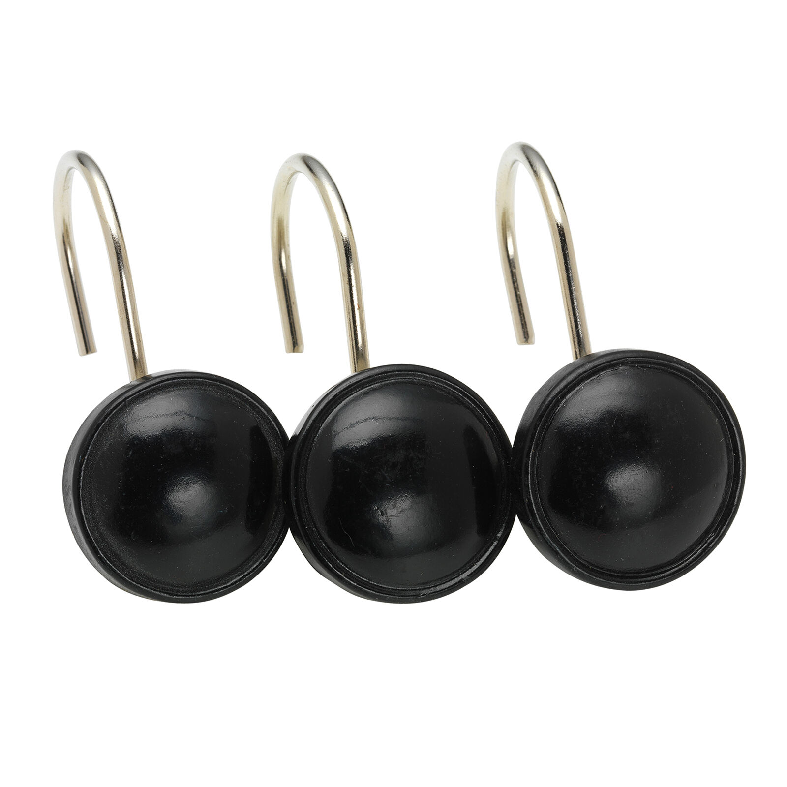 Black Hooks Round Black Shower Curtain Hooks At Home
