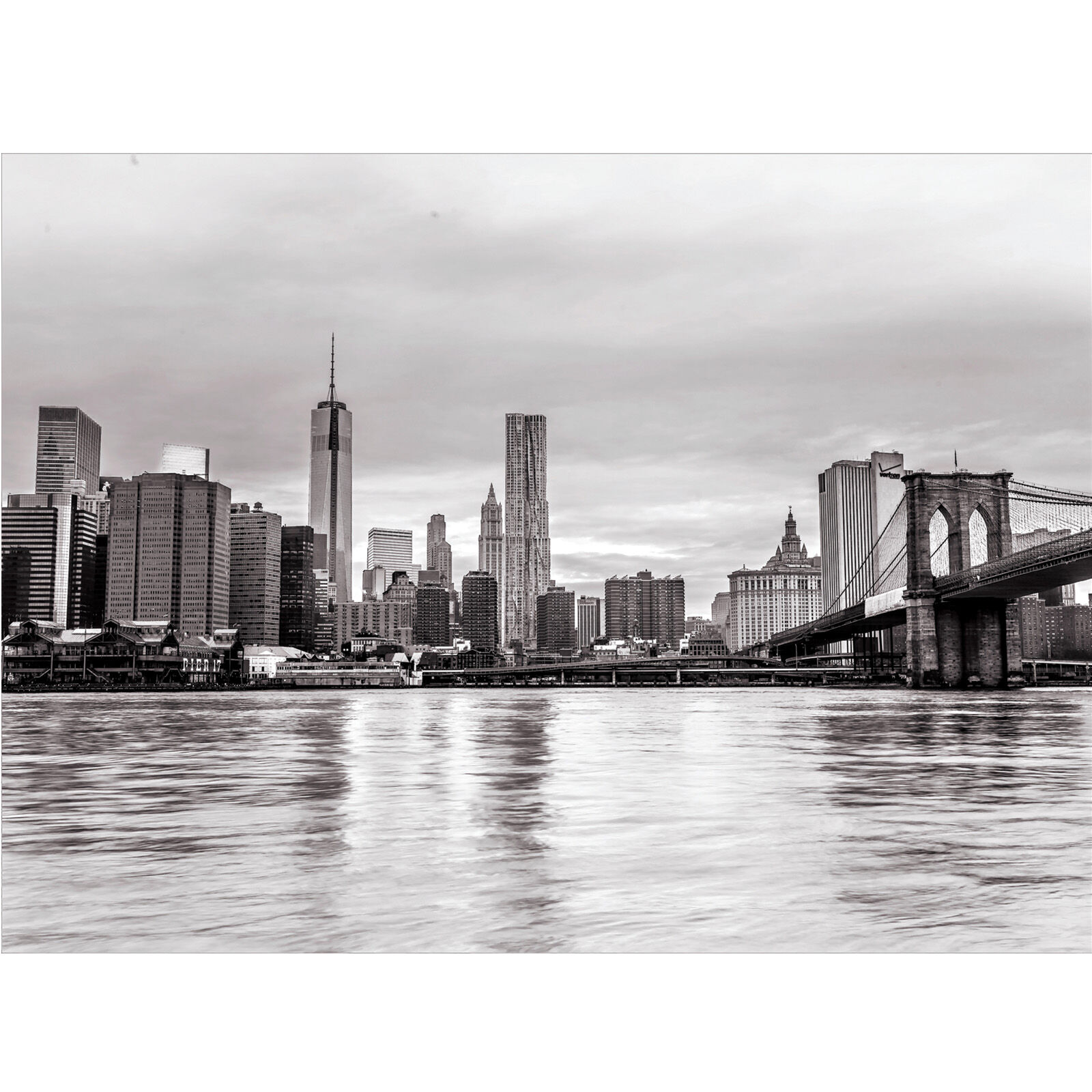 Black And White Canvas Pictures Nyc Skyline Black And White Canvas Art 36x48 In