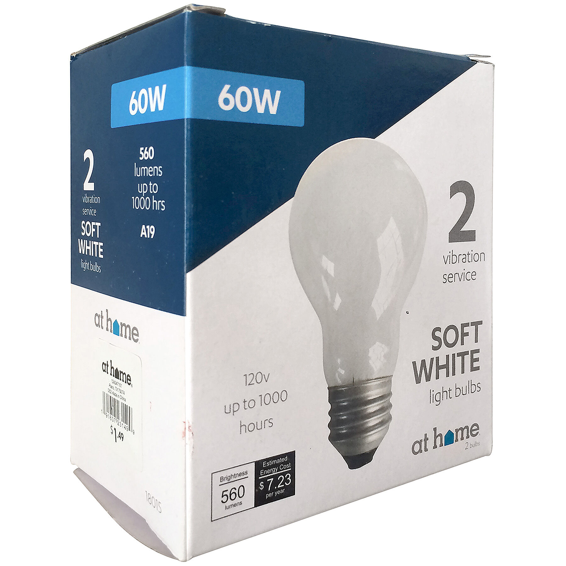 60w Light Bulb Soft White Light Bulb 60w 2 Pack