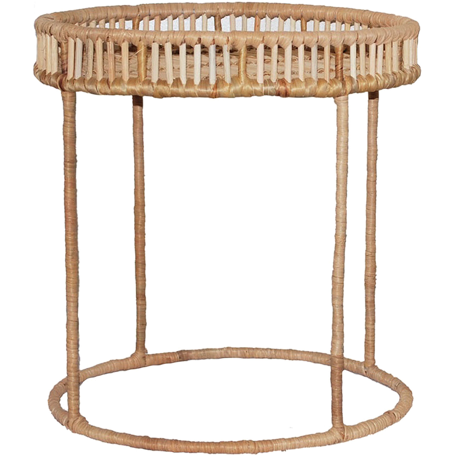 Rattan Table 20 Natural Rattan Tray Table