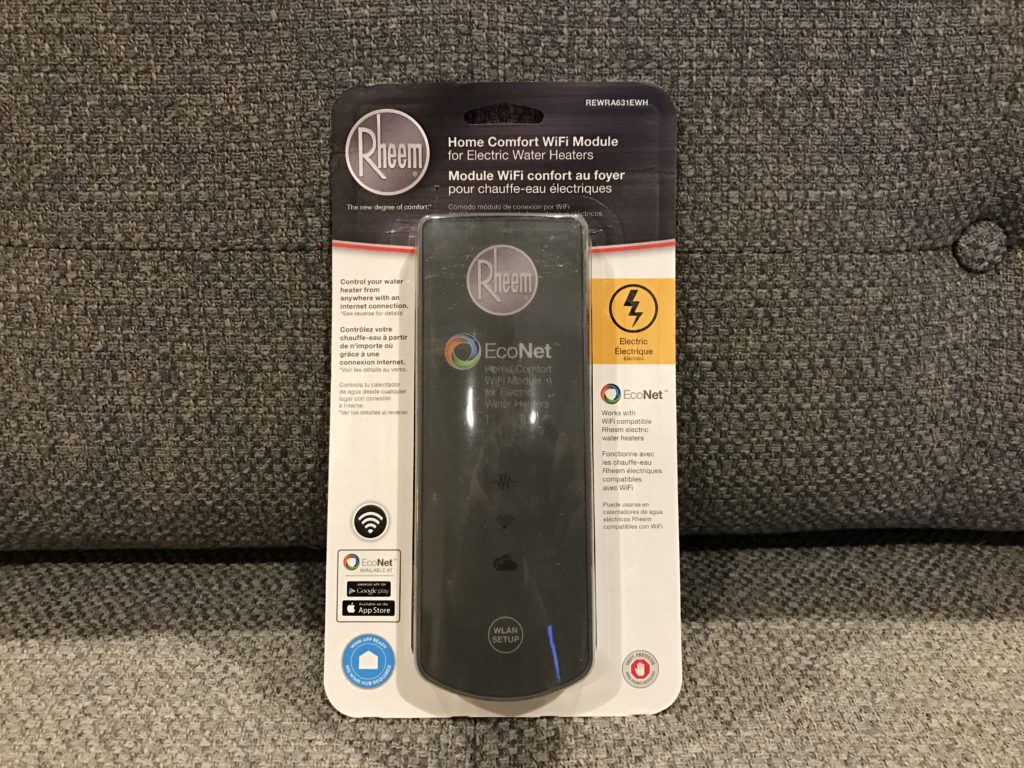 Chauffe Eau Rheem Review Rheem Econet Smart Water Heater At Home In The Future