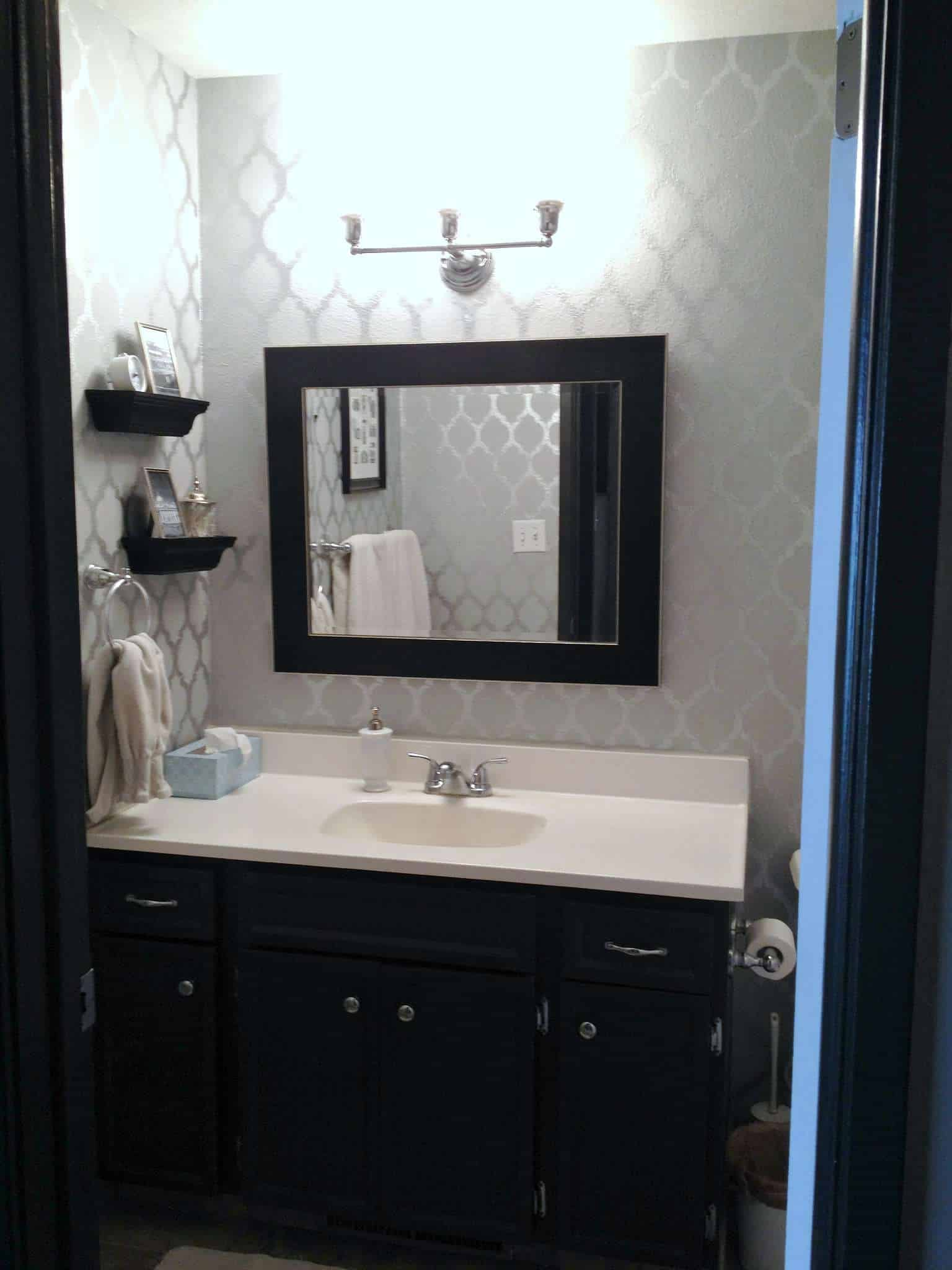 Bathroom Mirror Fixings Bathroom Home Tour At Home With Ashley