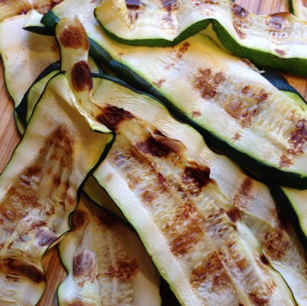 Grill the zucchini ahead of time. Your vegetarian guests will thank you!
