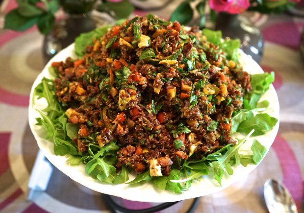Quinoa Salad with Roasted Vegetables (Baby Shower Luncheon)