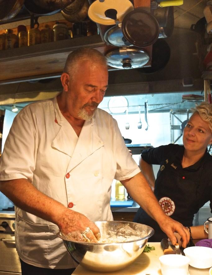 Ivan and his daughter Maja Mačković make for great cooking partners.