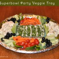 Superbowl Party Veggie Tray