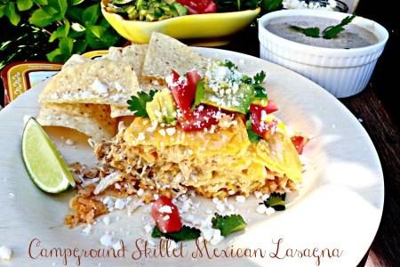 Campground Skillet-Mexican Lasagna with Creamy Salsa-Del Real Foods Recipe Challenge 2016