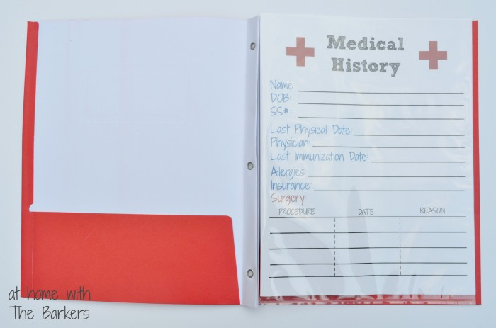 Medical History Free Printable - At Home with The Barkers