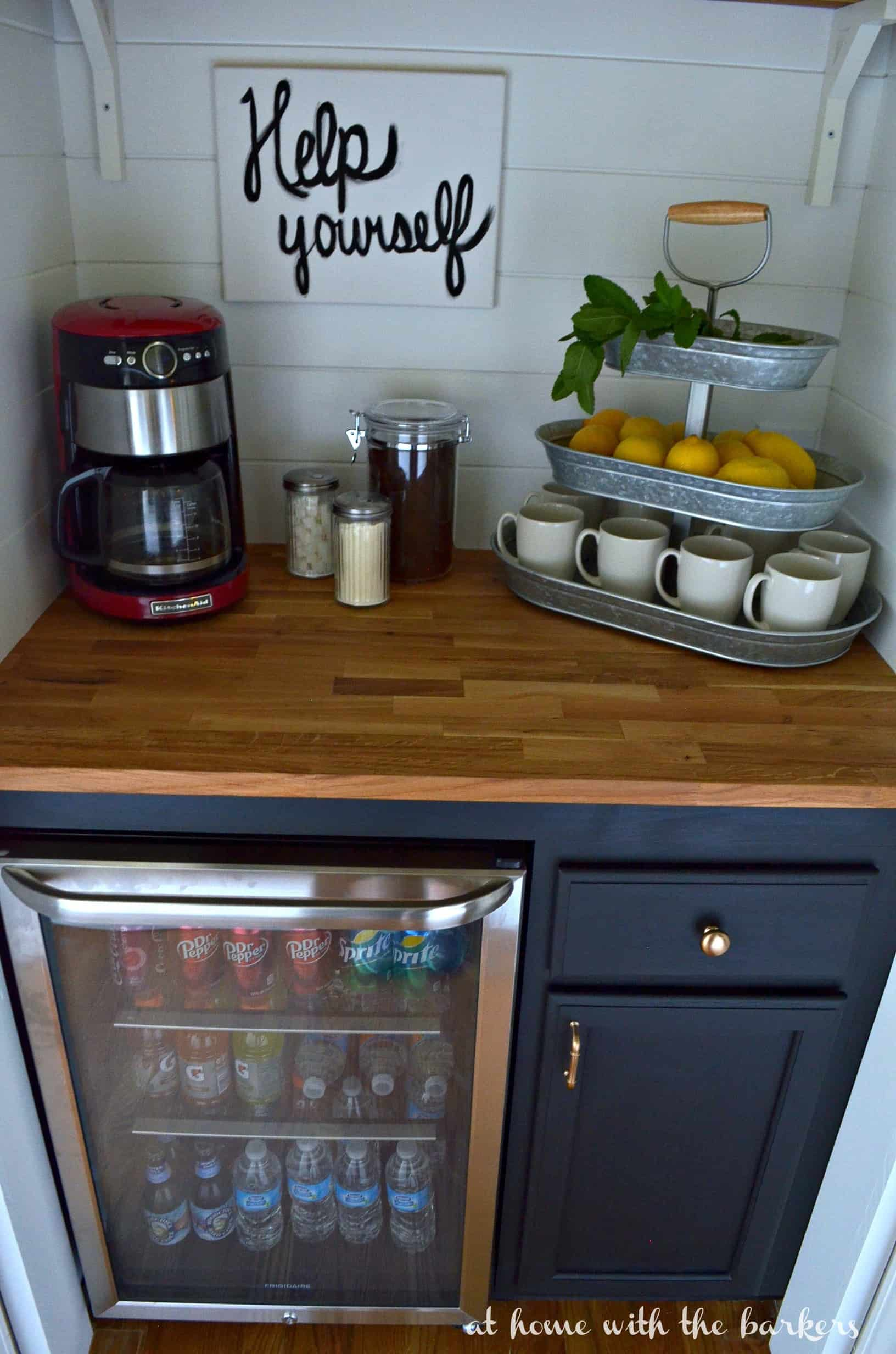 Mueble Para Peluqueria Diy Beverage Bar -at Home With The Barkers