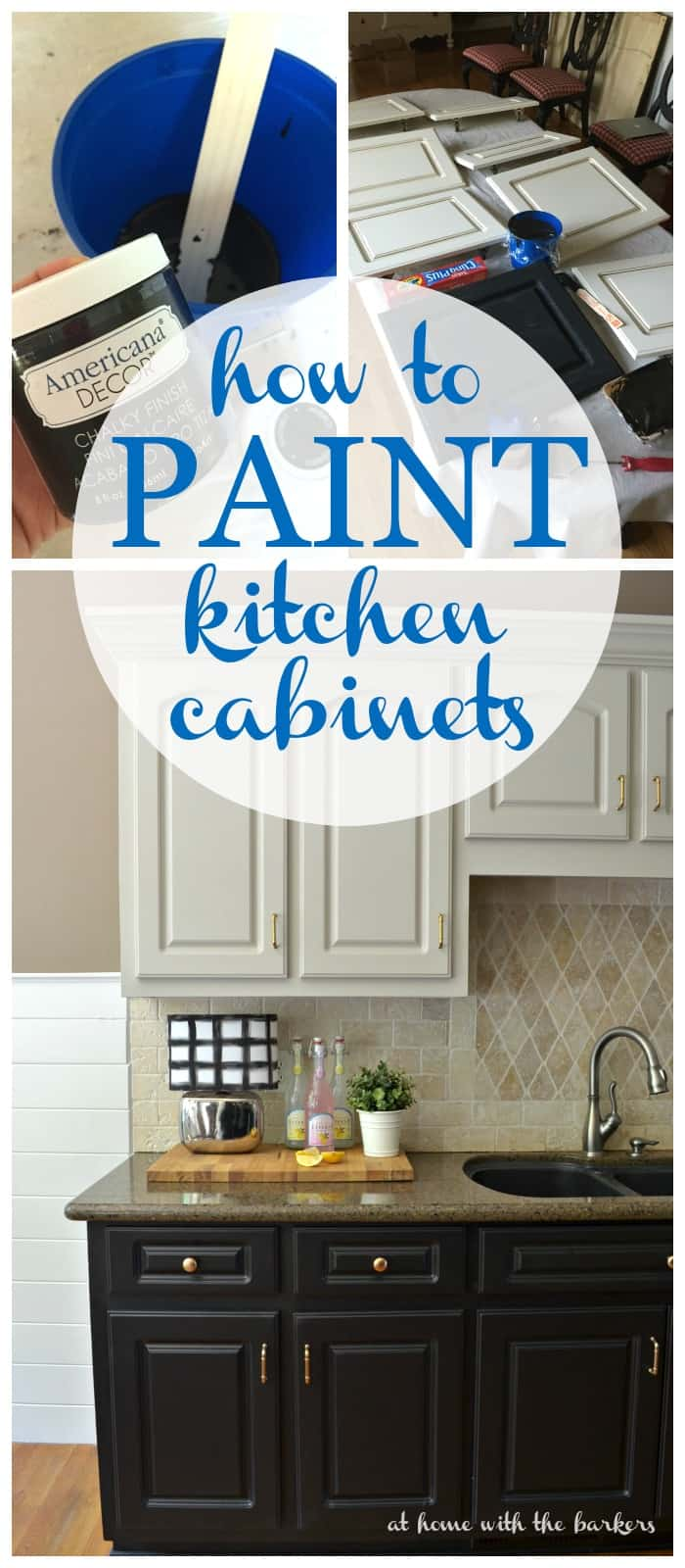 Americana Decor Chalky Finish How To Paint Kitchen Cabinets At Home With The Barkers
