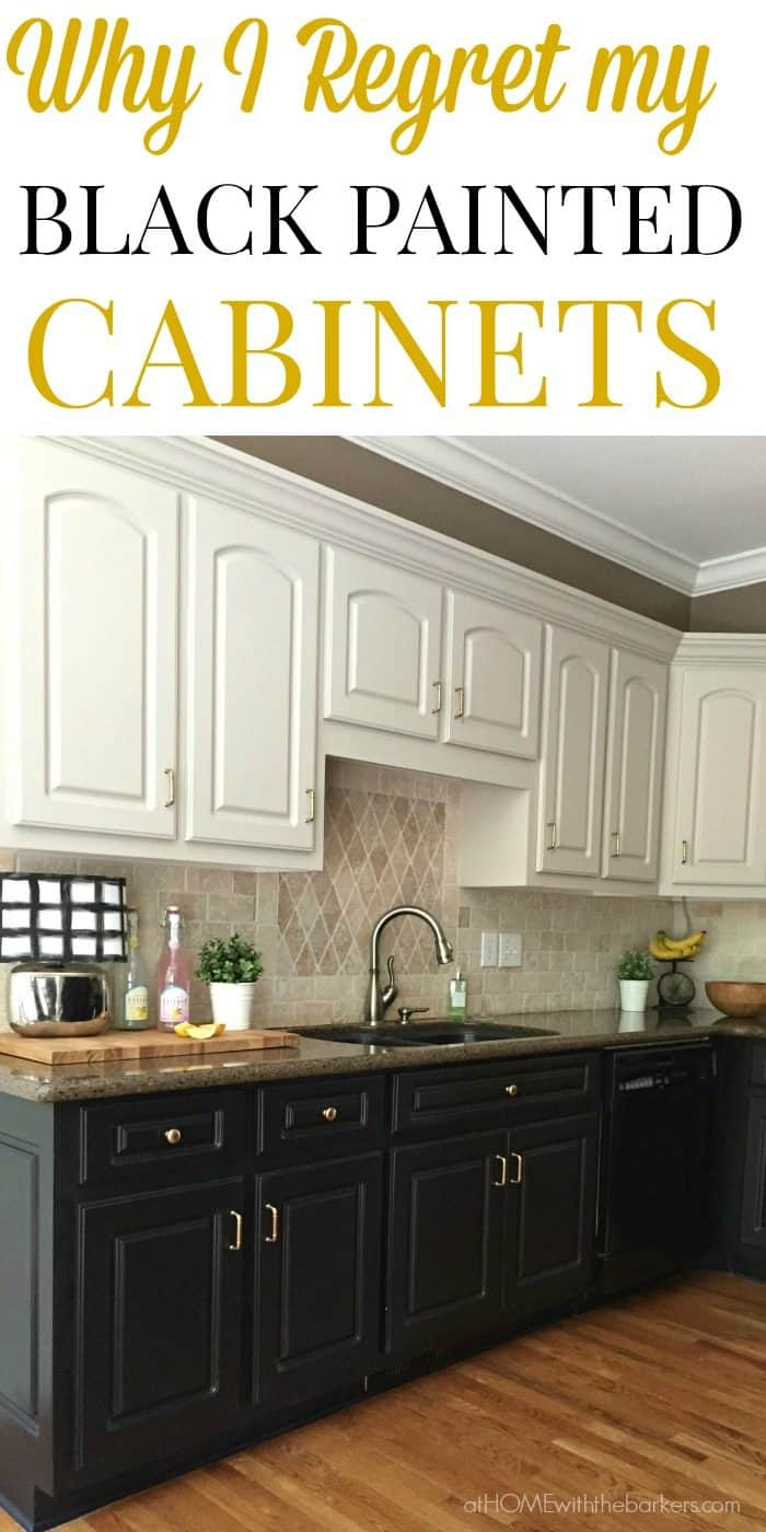 black kitchen cabinets the ugly truth black kitchen cabinets Find out why I regret painting all my lower kitchen cabinets black Click over to