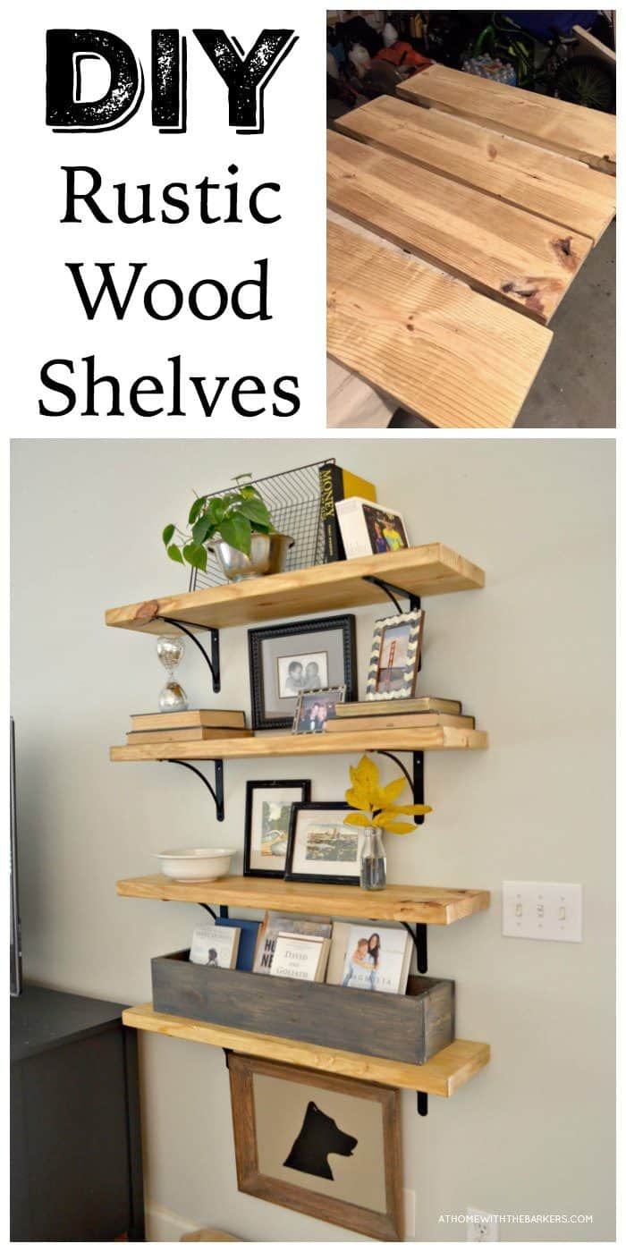 Smashing Barkers Wall Wood Shelf Wall Wood Shelf 4 Feet Diy Rustic Wood Shelves Metal Brackets Diy Rustic Wood Shelves At Home interior Wall Wood Shelf