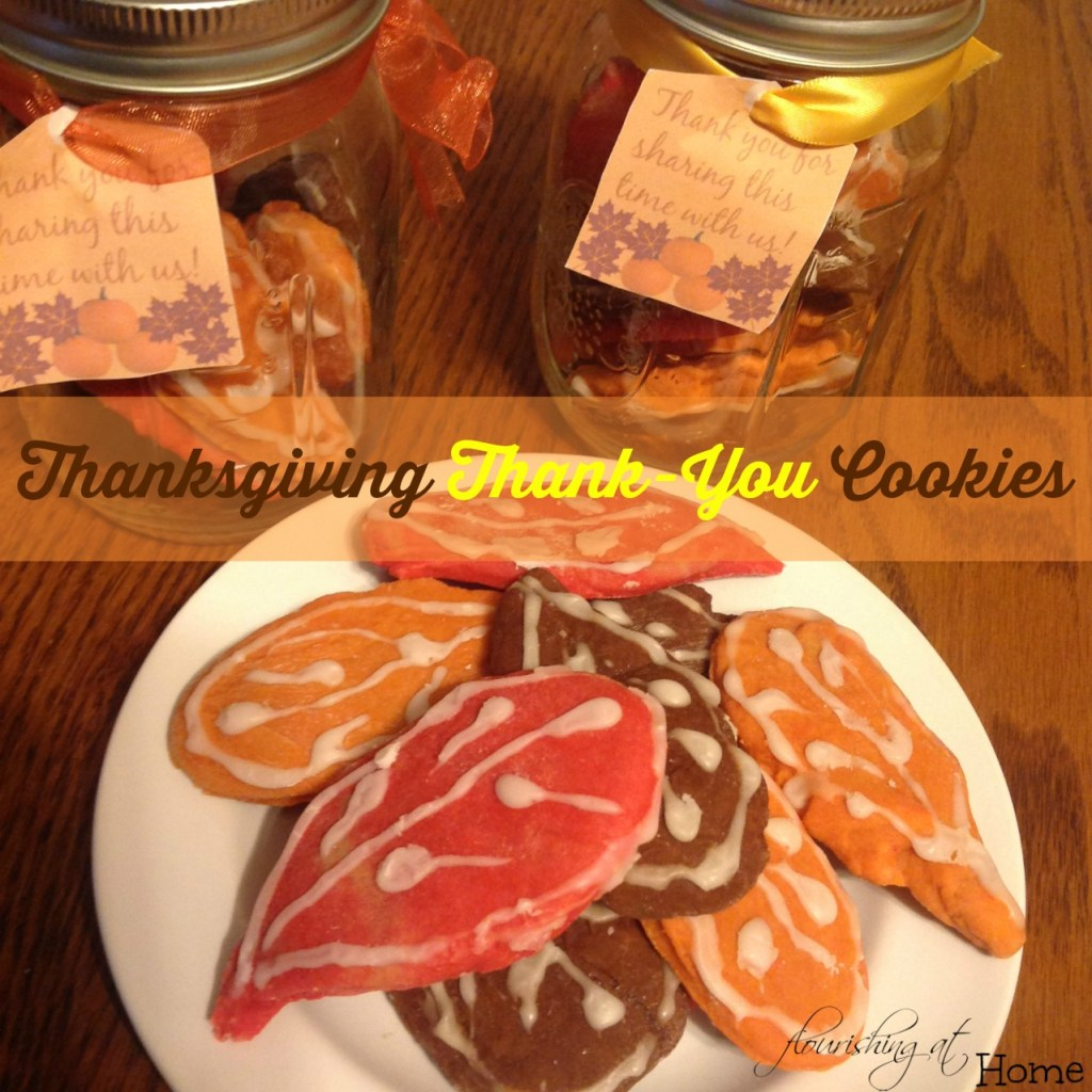 Thanksgiving Thank-You Cookies with Free Gift Tag Printables