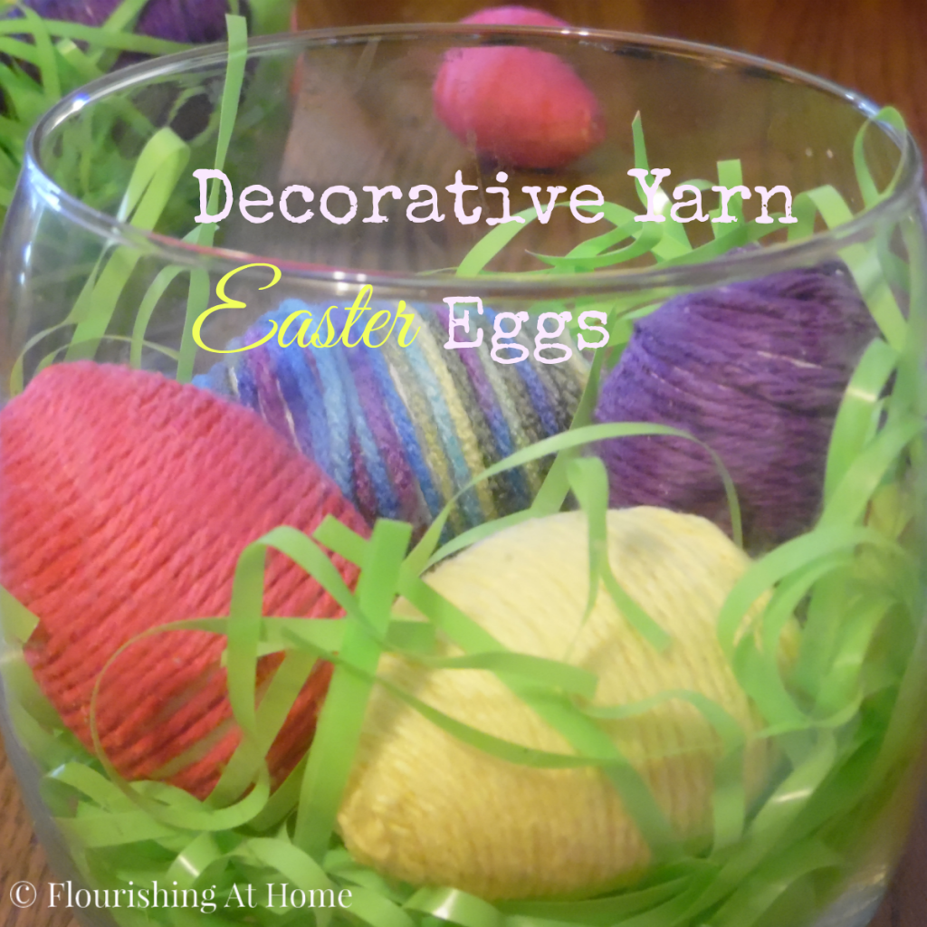Decorative Yarn or Twine Easter Eggs