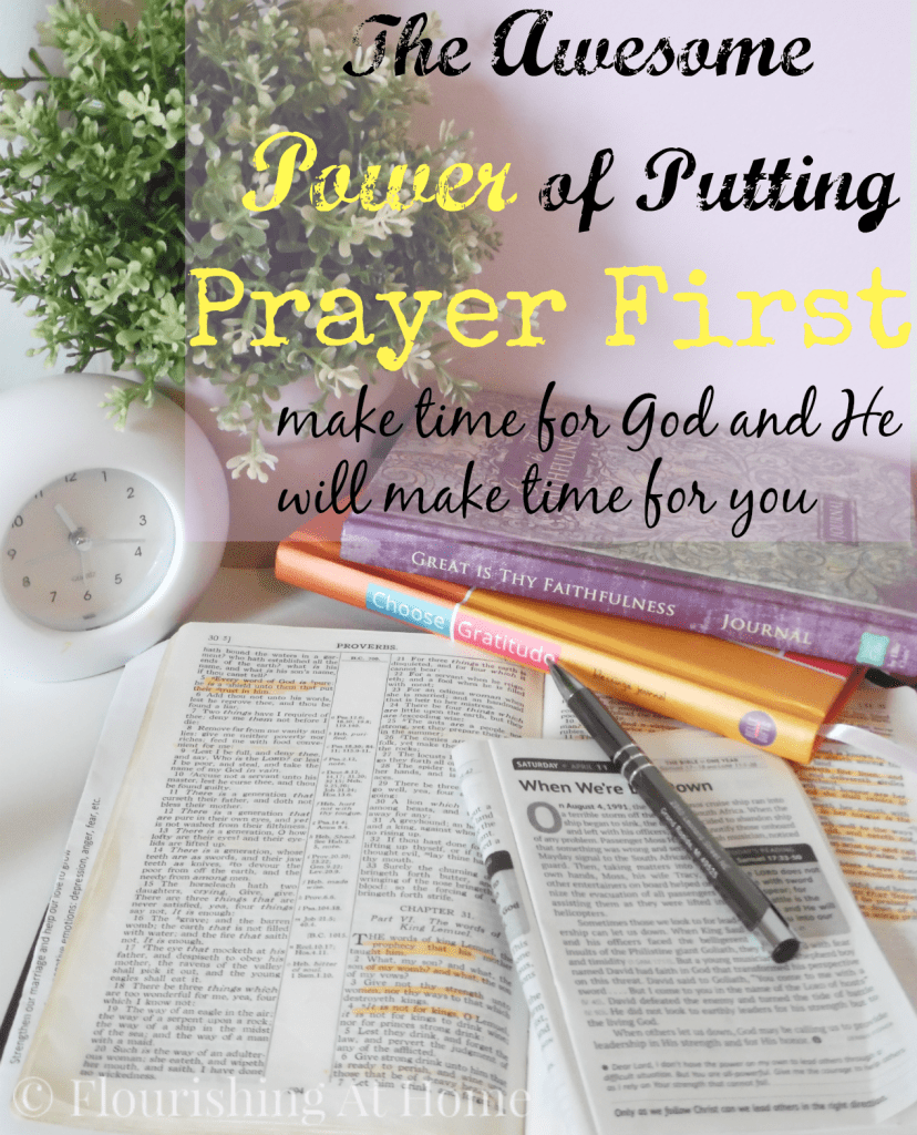 The Awesome Power of Putting Prayer First