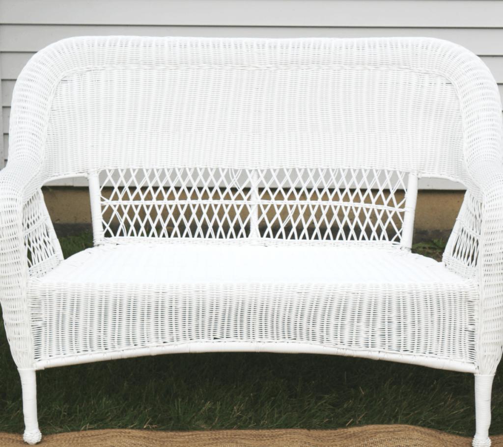 wicker chair - long