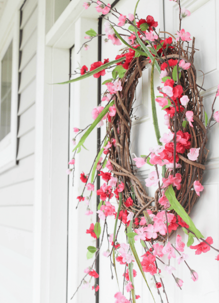 Summer Wreath - Spring Wreath - Summer Porch Decor - Exterior - At Home Wtih Zan -