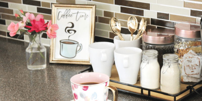 How to Create a Small Coffee Station - at Home - At Home With Zan - Feature