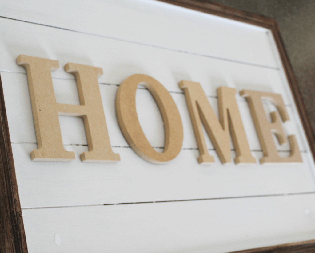 -DIY Decorative Sign for Home - HOME - At Home With Zan-=