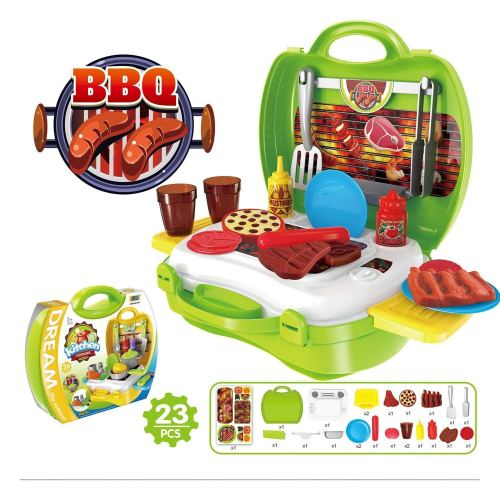 BBQ Pretend Play Set - Holiday Gift Guide for Kids - 3-5 Years Old - At Home With Zan