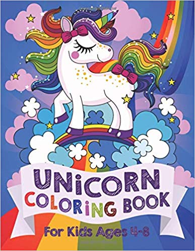 Unicorn Coloring Book - Holiday Gift Guide for 3-5 Year Olds - At Home With Zan-