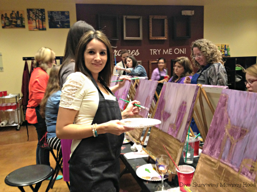 Painting in San Antonio at pinots palette