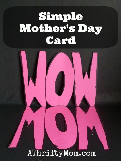 Simple Mother\u0027s Day Card ~ Mom/ WOW card #MothersDay #DIY - A