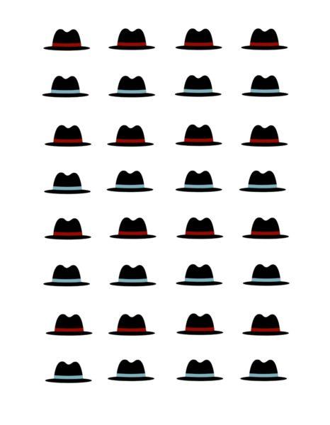 Free printable snowman hat, easy christmas snacks