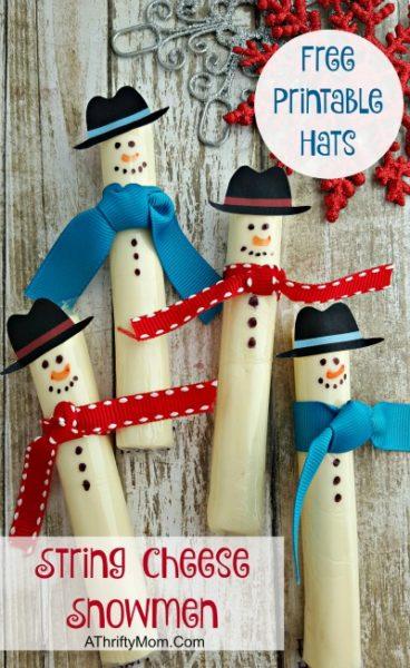 Free printable snowman hat,Healthy treats for schoo Christmas