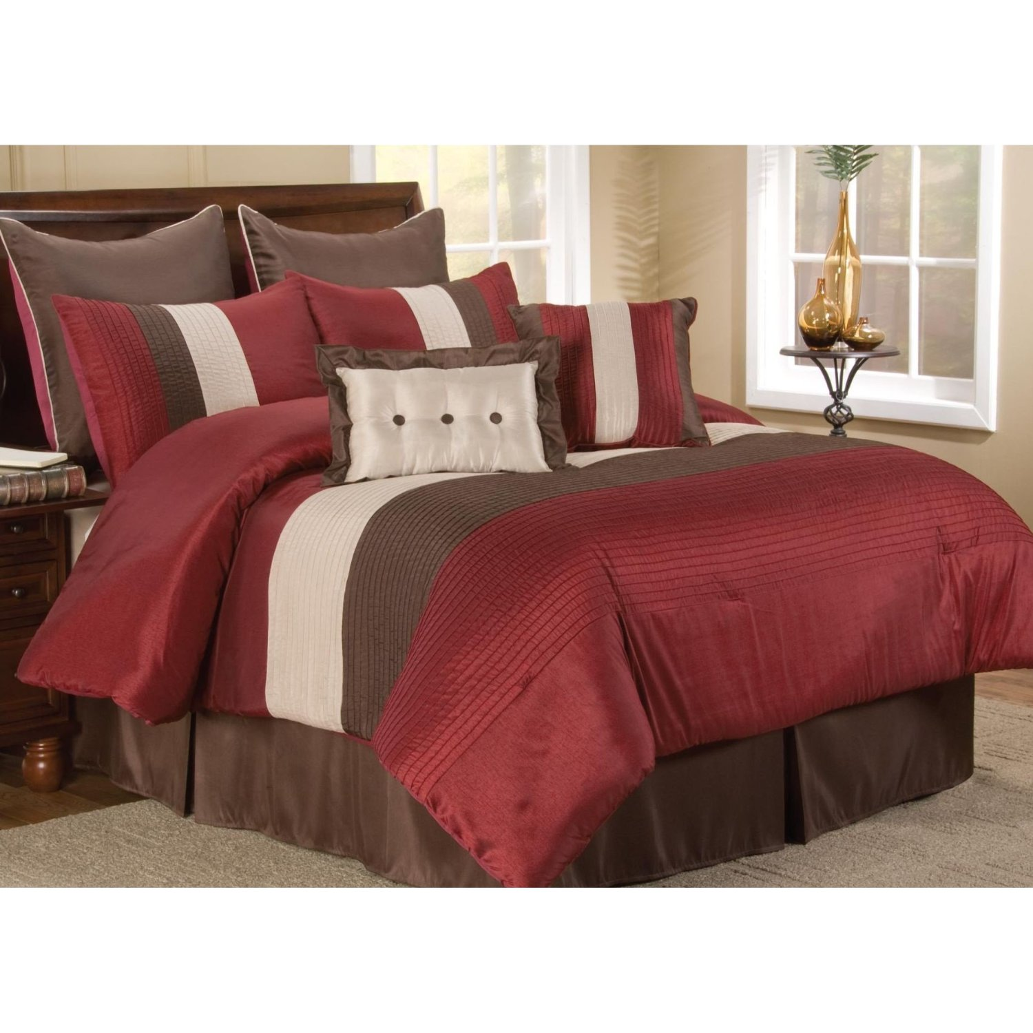 Burgundy And Gray Bedroom Red Bedding Set A Thrifty Mom Recipes Crafts Diy And