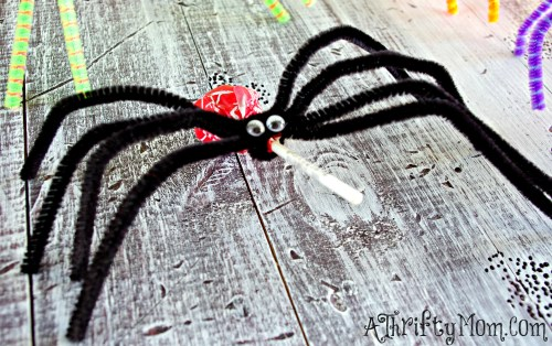Halloween Crafts How To Make Sucker Spiders How To Make Sucker Quick Halloween Crafts For Toddlers